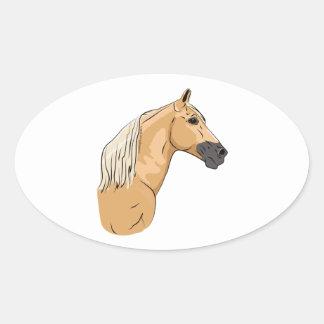 Palominoのテネシー州の歩くの馬3 楕円形シール