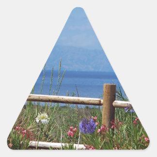 Palos VerdesおよびCatalina場面 三角形シール
