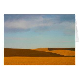 Palouseの地域の金小麦畑 カード