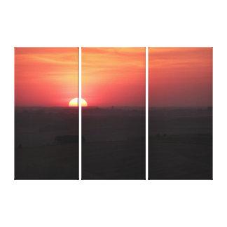 Palouse上の日没 キャンバスプリント