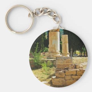 Pamukkale、Hierapolis、トルコの古代コラム キーホルダー