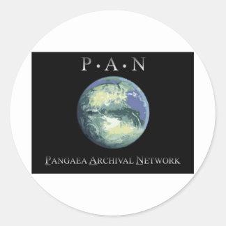 Pangaeaの記録保管ネットワークのステッカー ラウンドシール