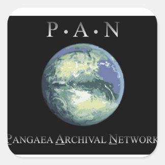 Pangaeaの記録保管ネットワークの正方形のステッカー スクエアシール
