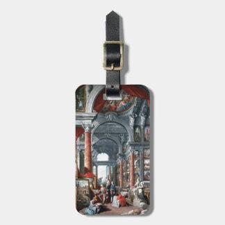 Pannini -モダンなローマの眺めのギャラリー ラゲッジタグ