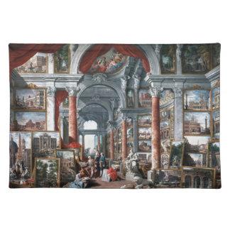 Pannini -モダンなローマの眺めのギャラリー ランチョンマット