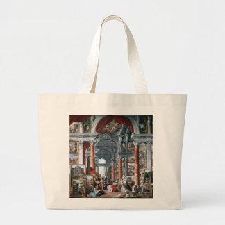 Pannini -モダンなローマの眺めのギャラリー ラージトートバッグ