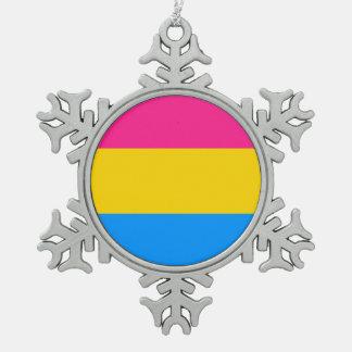 Pansexual旗 スノーフレークピューターオーナメント