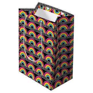 Pansexual虹LGBTのプライド ミディアムペーパーバッグ