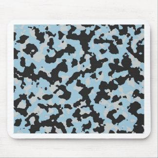 PANTONEのアクアマリン及び氷河灰色のカムフラージュ マウスパッド