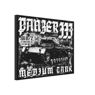 Panzer IIIのキャンバスプリント キャンバスプリント