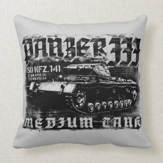 Panzer IIIの等級綿の装飾用クッション20x20 クッション