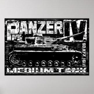 Panzer IVのプリント ポスター