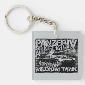 Panzer IVの正方形(両面の) Keychain キーホルダー