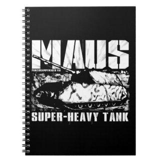 Panzer VIII Mausの写真のノート(80ページB&W) ノートブック