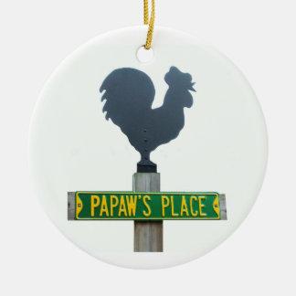 Papawの場所のオーナメント セラミックオーナメント