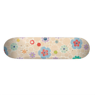 paper030花柄の花の漫画は背景を方向を変えます スケートボード