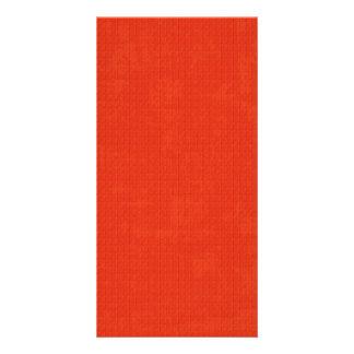 paper073織られるペーパー赤いいちごのチェリーレッド カード