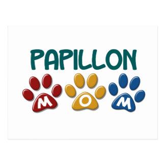PAPILLONのお母さんの足のプリント1 ポストカード