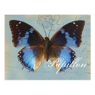 Papillonのブルー ポストカード