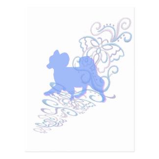 papillonのレース ポストカード