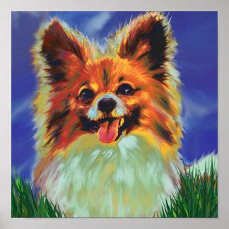 papillonの子犬ポスター ポスター