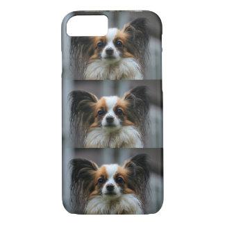 Papillonの小犬 iPhone 8/7ケース
