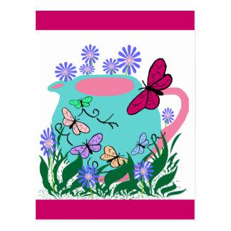 papillonの蝶ティーポット ポストカード