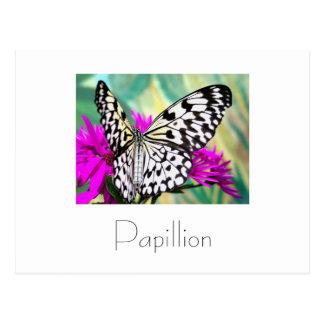 Papillonの郵便はがきのデザイン ポストカード