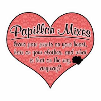 Papillonは足のプリント犬のユーモアを混合します 写真彫刻オーナメント