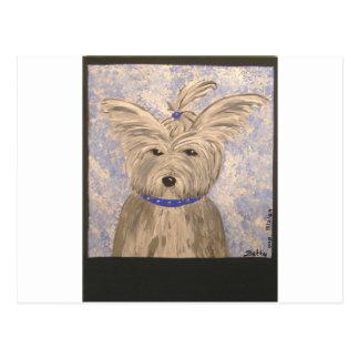 papillon犬 ポストカード