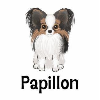 Papillon 写真彫刻(台付き)