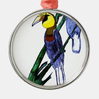Papuanのミナミジサイチョウの鳥 メタルオーナメント