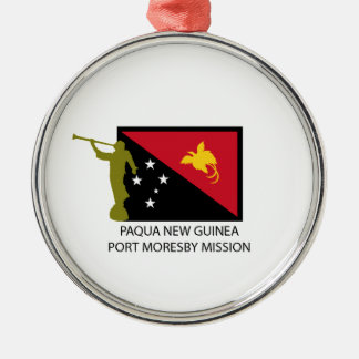 PAQUAニューギニアポート・モレスビーの代表団LDS CTR メタルオーナメント