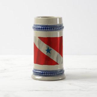 Paráのブラジルの振る旗 ビールジョッキ