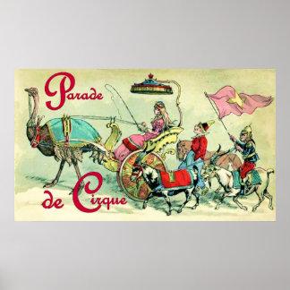 Parade de Cirqueの~のヴィンテージのサーカスポスター ポスター