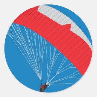 Paragliderのデザイン ラウンドシール