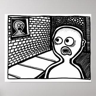 ParanormalPrintsポスター「窓Ghost ポスター