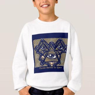 ParanormalPrints著宇宙の3人の石大工 スウェットシャツ