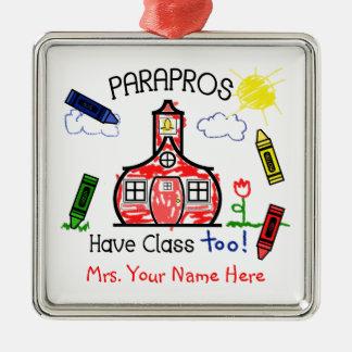 Paraprosにクラスの校舎のクレヨンのスケッチが余りにあります メタルオーナメント