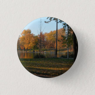 ParcのLa Fontaineの秋場面ボタン 3.2cm 丸型バッジ