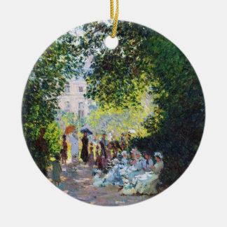 Parc Monceauクロード・モネの絵画 セラミックオーナメント