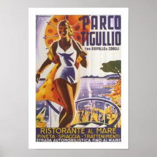 Parco Tigullio (ボーダー) ポスター