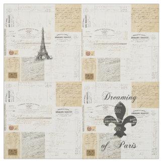 Pariseのフランス人の生地の夢を見るヴィンテージ ファブリック