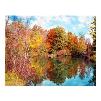 park湖の紅葉による秋 チラシ