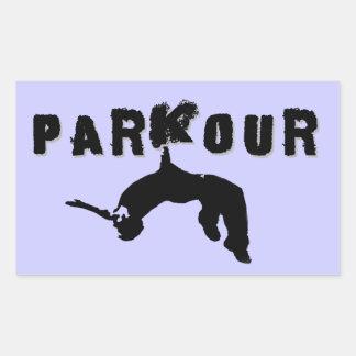 Parkourのアスリート 長方形シール