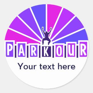 PARKOURのステッカーは、カスタマイズ ラウンドシール
