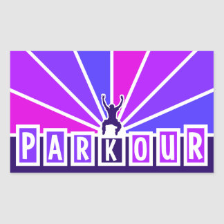 PARKOURのステッカー 長方形シール