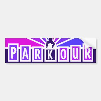 PARKOURのバンパーステッカー バンパーステッカー