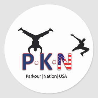 Parkourの国家米国 ラウンドシール