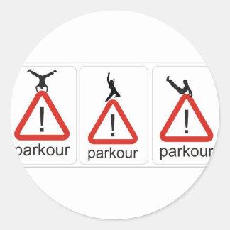 parkourのawesomenesss ラウンドシール